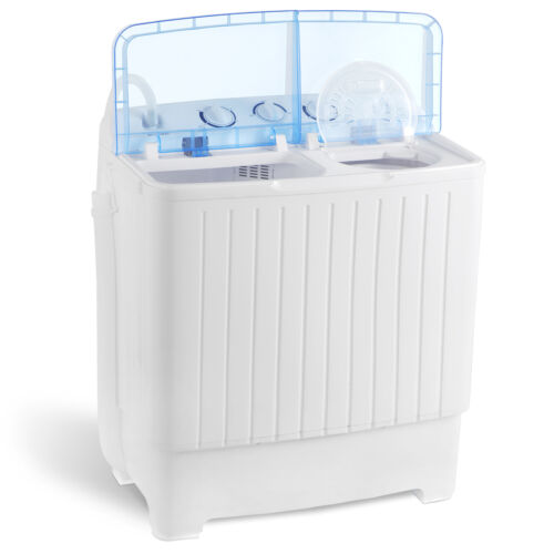 17.6LBS Portable Washing Machine Mini Compact Twin Tub Laundry Washer Spin Dryer