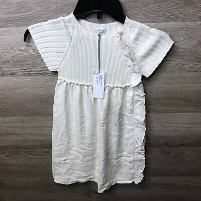 Violeta e Federico Girls Size 4 Years Bone White Lulu Dress NEW