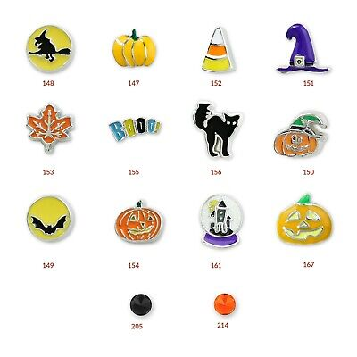 Halloween Floating Charms (Halloween Floating Charms *Rare and Authentic* Charms for Charm Lockets and)