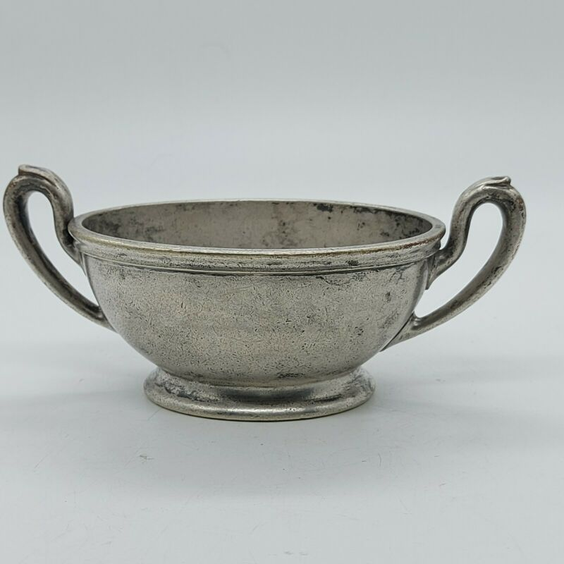 Vintage R Wallace Silver Soldered 0381 The Anthony Wayne 6oz Open Sugar Bowl
