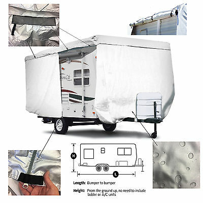 ShieldAll™ Coachmen Viking 15RB Travel Trailer Camper Cover w/ Zipper Door Acces