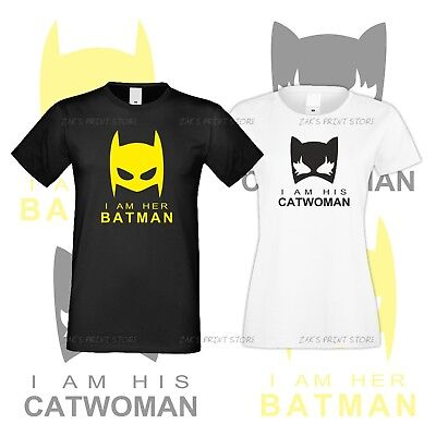 Couple Tshirts Batman And Catwoman  For Him And Her Together Family Love - Batman And Catwoman Couple Shirts