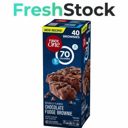 Fiber One Chocolate Fudge Brownies (0.89oz / 40pk) FREE&FAST SHIPPING