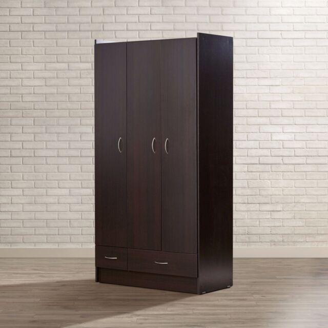 Armoire Wardrobe Storage Closet Bedroom Furniture Clothes Cabinet Wood  Organizer