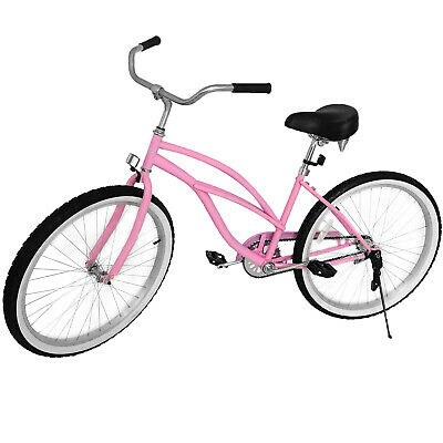 Beach Cruiser Bike 24 Beach Cruiser Bicycle Cycling Steel Wo