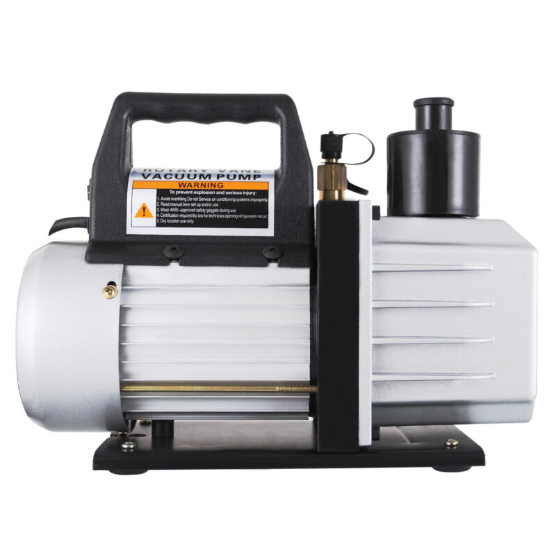1/3HP Deep Vacuum Pump 110V 5 CFM HVAC AC Refrigerant Charge Black