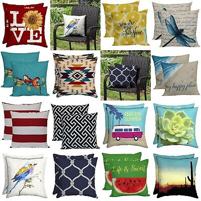 Outdoor Pillows Indoor Throw Pillow Set 2/8 Pcs Nice Garden Patio Cushions 16