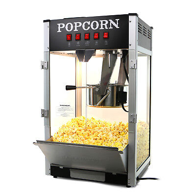 Paramount 16oz Commercial Popcorn Maker Machine - 16 Oz Kettle Popper Black