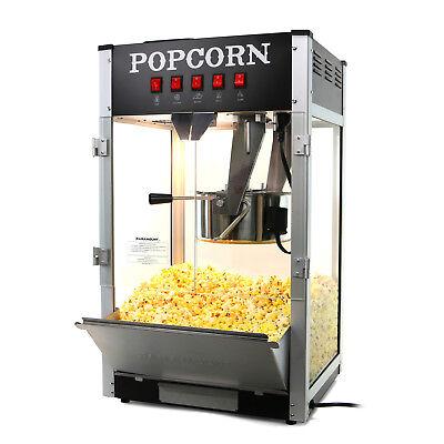 Paramount 16oz Commercial Popcorn Maker Machine - 16 Oz Kettle Popper Black