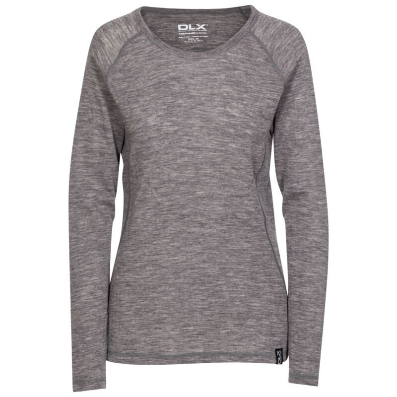 DLX Womens Base Layer Top For Thermal Long Sleeved Merino Wool Libra