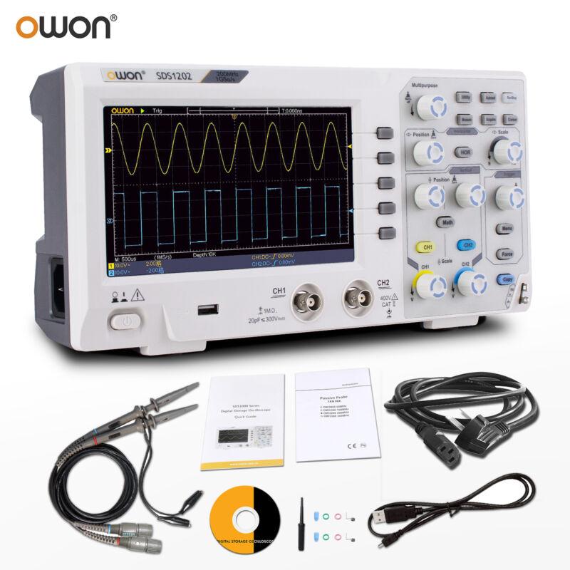 Owon SDS1202 Digital Storage Oscilloscope 2CH 200MHz 1GS/s LCD display USB