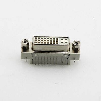 1pcs 90 Degree DVI 24+5 Female Solder Connector Adapter DVI