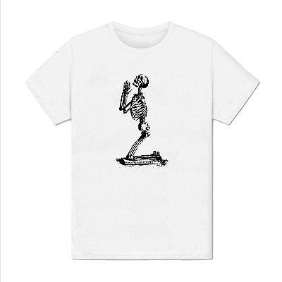 T-shirt Homme -  Halloween prière squelette - illustration amusant religion