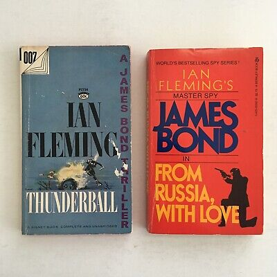 Vintage James Bond by Ian Fleming Book Lot (1960s) Early Printings