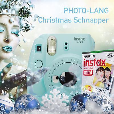 Fuji Instax Mini 9 Sofortbildkamera Geschenkidee Set Film Ice Blue Sofortbild