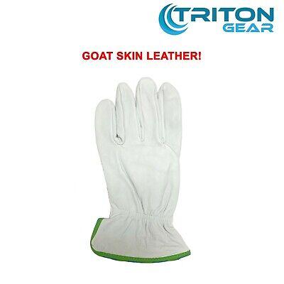 Goat Skin Grain Leather Driver Work Safety Glove Size M L Xl