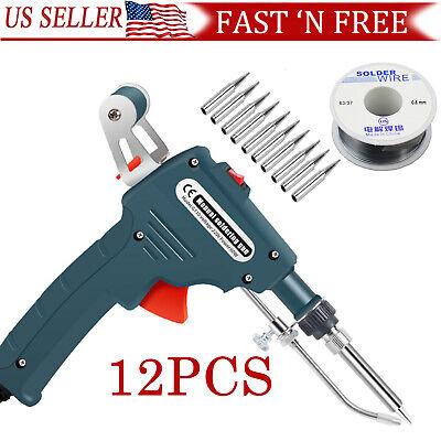 Auto Electric Soldering Iron Gun Welding Tool Screwdriver Tip Tin S Older Wire