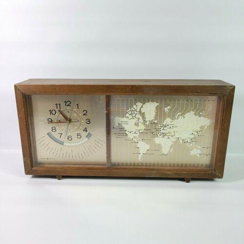 Vintage General Electric GE 8111 Model Terrestrial World Time Clock Works Great