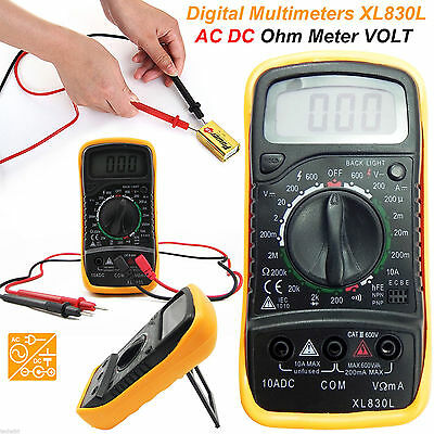 LCD Digital Multimeter Voltmeter AC DC Voltage Tester Circuit Checker Buzzer UK