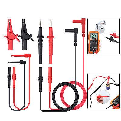 8pcs Multimeter Test Lead Kit Wire Probe Alligator Clip Insulators Cat Iii 1000v