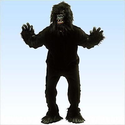 Tierkostüm Gorilla Vollkostüm inkl. Kopf Größe 48-54 Kostüm Affe - Gorilla Kopf Kostüm