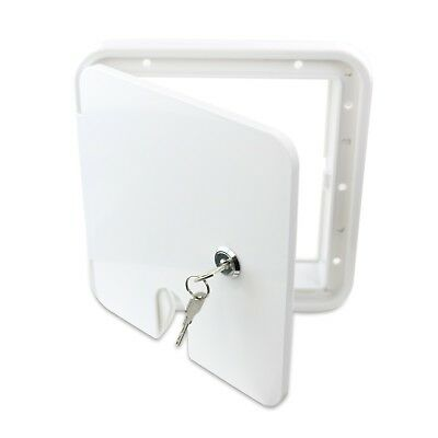 Electric Cable Hatch - POWER CORD CABLE HATCH Camper Square RV Trailer Electric Polar White 1LW