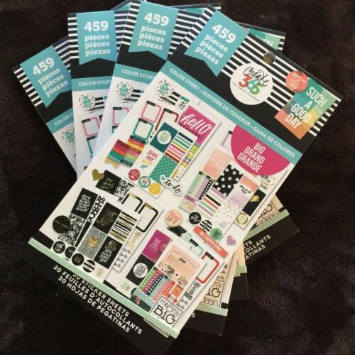 BIG Happy Planner Color Story Sticker Value Pack 459 pc each Lot of 4 New