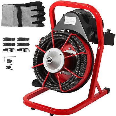 "50' x 3/8"" Drain Cleaner Machine 250W W/foot switch Plumbing"