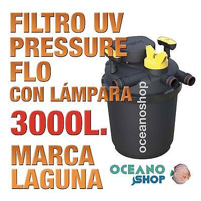 FILTRO PRESSURE FLO UV LAGUNA - 3000lts estanque peces jardín estanques calidad