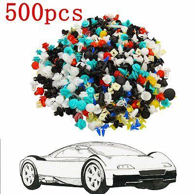 500pcs Mixed Car Door Panel Trim Fenders Bumper Rivet Retainer Push Pin Clips (Chesterfield Us)