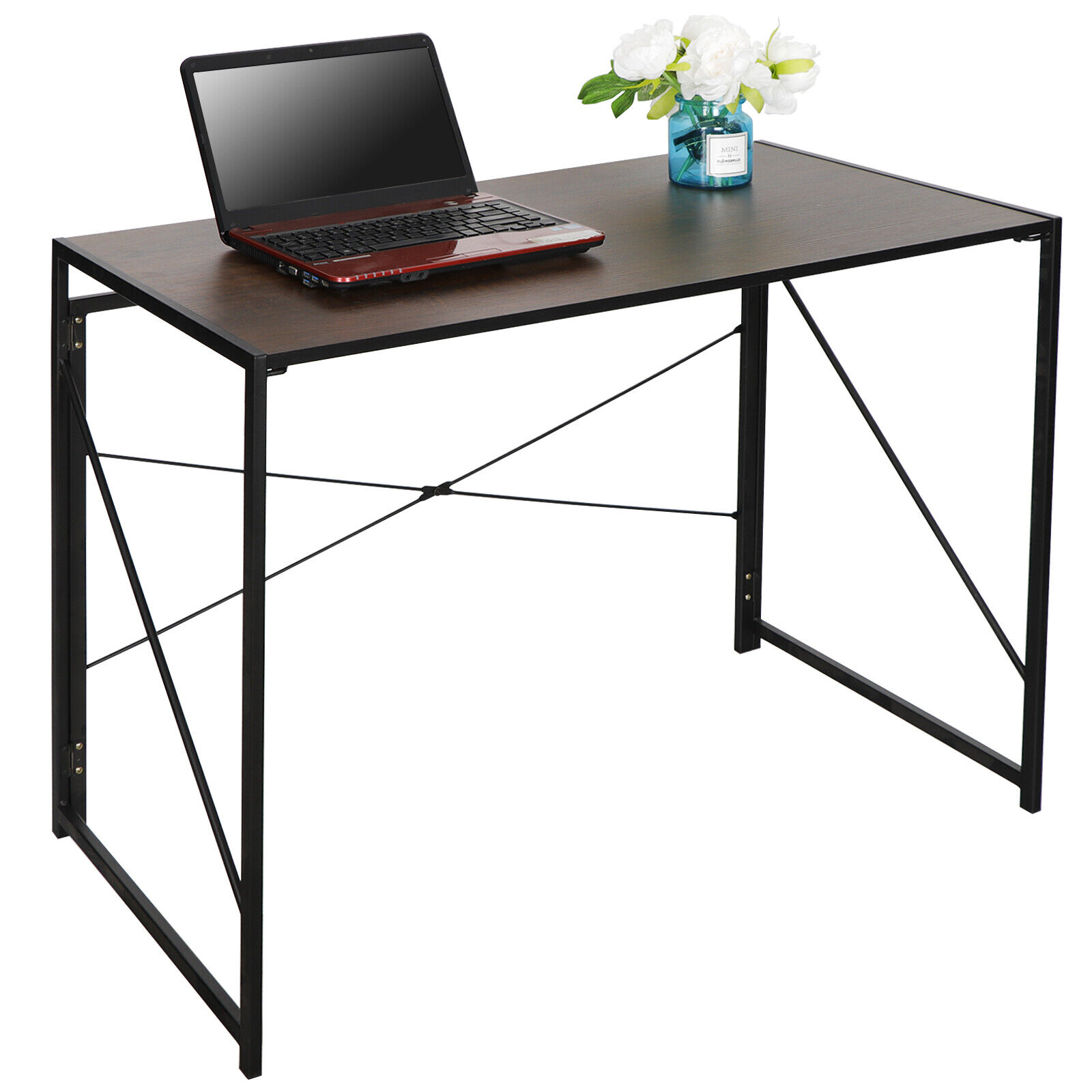 Computer Writing Desk Modern Study Desk Industrial Style Folding Corner Table Furniture