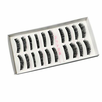 10 Pairs 100% Real Mink 3D Volume Thick Daily False Fake Eyelashes Strip Lashes Health & Beauty