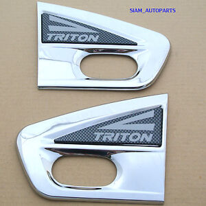 NEW PAIR CHROME SIDE VENT FOR MITSUBISHI TRITON  MN ML 2005 -2010 06 07 08 09