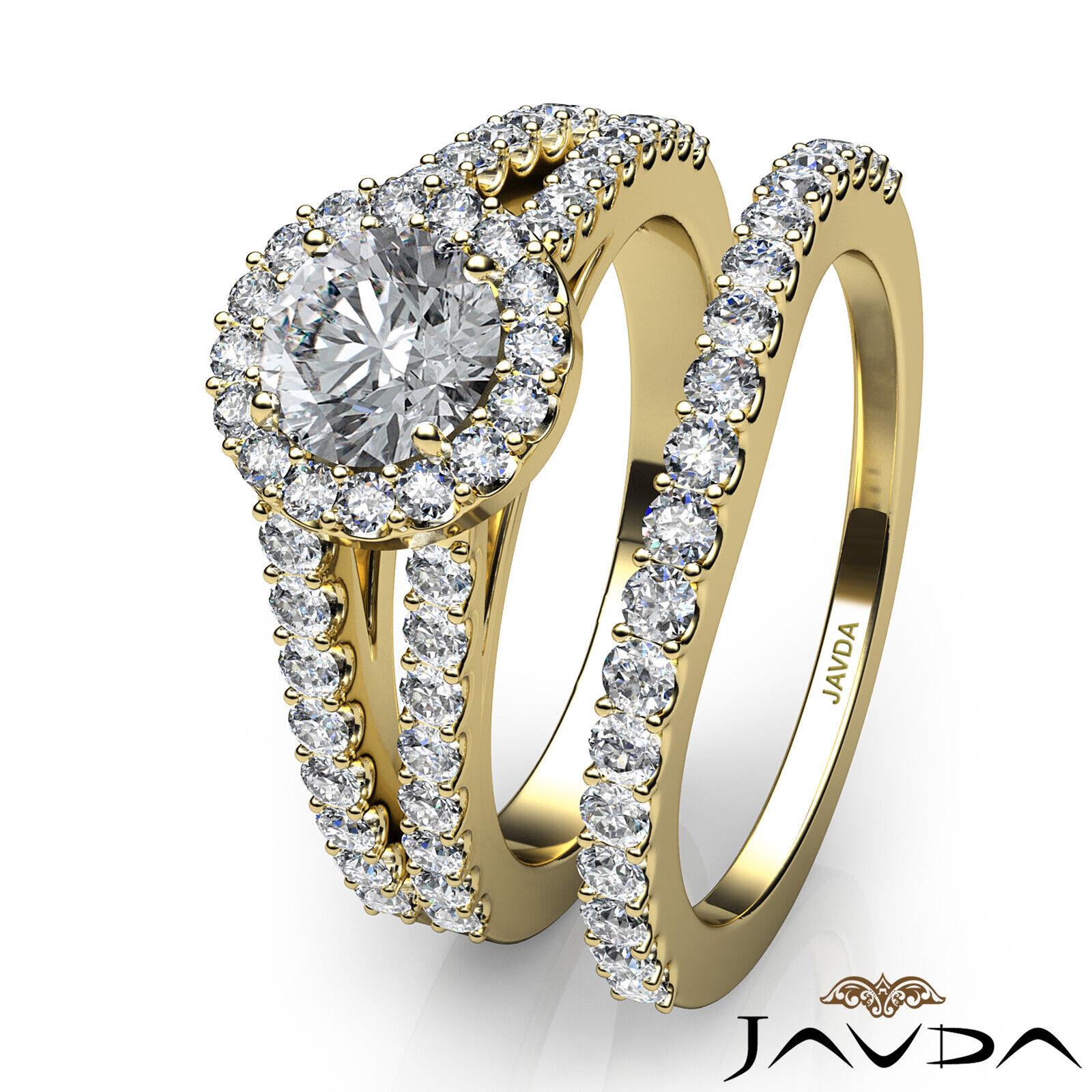 1.65ctw Luxurious Wedding Bridal Round Diamond Engagement Ring GIA E-VVS2 W Gold 10