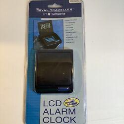 New Royal Digital Picture Album Travel Alarm Clock Snooze Backlit Case Fold Out