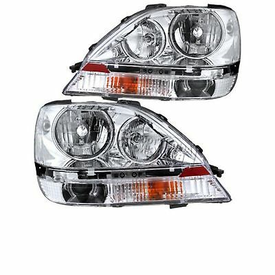 NEWMAR MOUNTAIN AIRE 2005-2006 PAIR HEADLIGHTS HEAD LIGHTS FRONT LAMPS RV