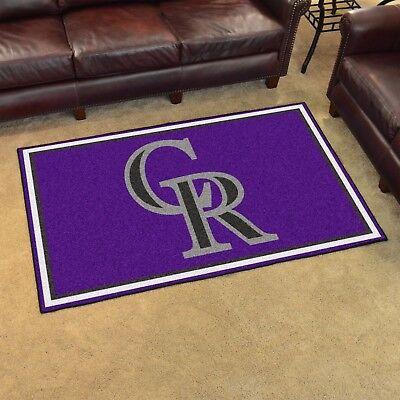 (Colorado Rockies 4' X 6' Decorative Ultra Plush Carpet Area Rug)