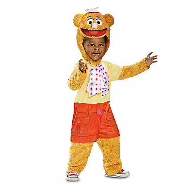 Toddler Muppet Babies Fozzie The Bear Halloween Costume Jumpsuit 12/18m 2T 3T 4T](Bear Halloween Costume Infant)