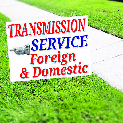 Transmission Service Foreign Domestic Plastic Indoor Outdoor Coroplast Yard Sign