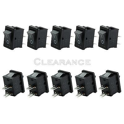 Mini Rocker Switch On-off 2-pin Plastic Button 250v 6a 125v 10amp 10pcs