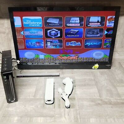 Nintendo Wii Modded  *GameCube Games Compatible* Plug and Play