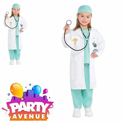 Girls Doctor Kids Medical Hospital Career Fancy Dress Costume  (Doctor Costumes For Girls)