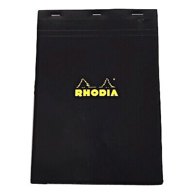 Bloc Rhodia 5mm Graph 8.25 X 11.75 Top Stapled 80 Sheets Black Pads