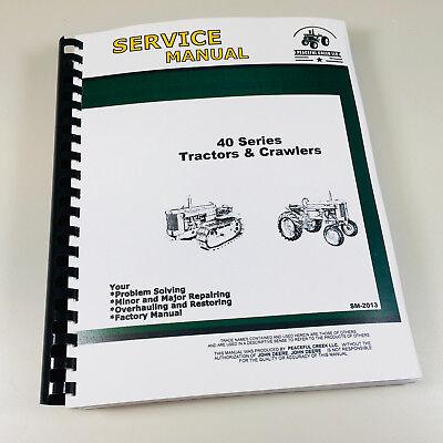 Technical Service Manual 40 Series John Deere Tractor Crawler Sm-2013