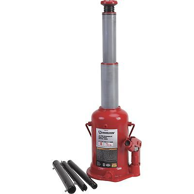 Strongway Hydraulic High Lift Double Ram Bottle Jack