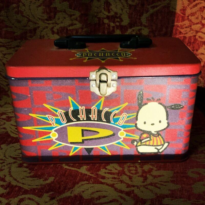 A Very Cute Vintage Sanrio 1989,1996 Pochacco Tin Box