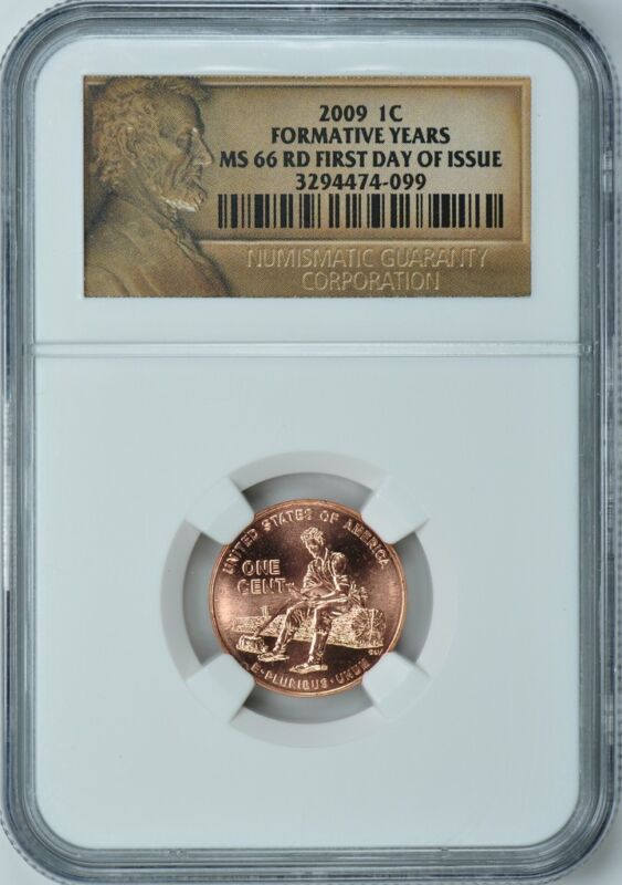 2009 (P) LINCOLN FORMATIVE YEARS 1c NGC MS66 RD FIRST DAY ISSUE