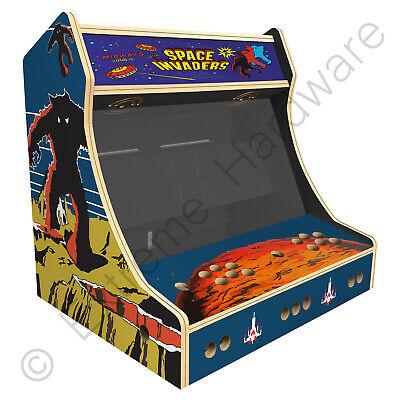 "BitCade 2 Player 24"" Bartop Arcade Machine Cabinet with Space Invaders Artwork"
