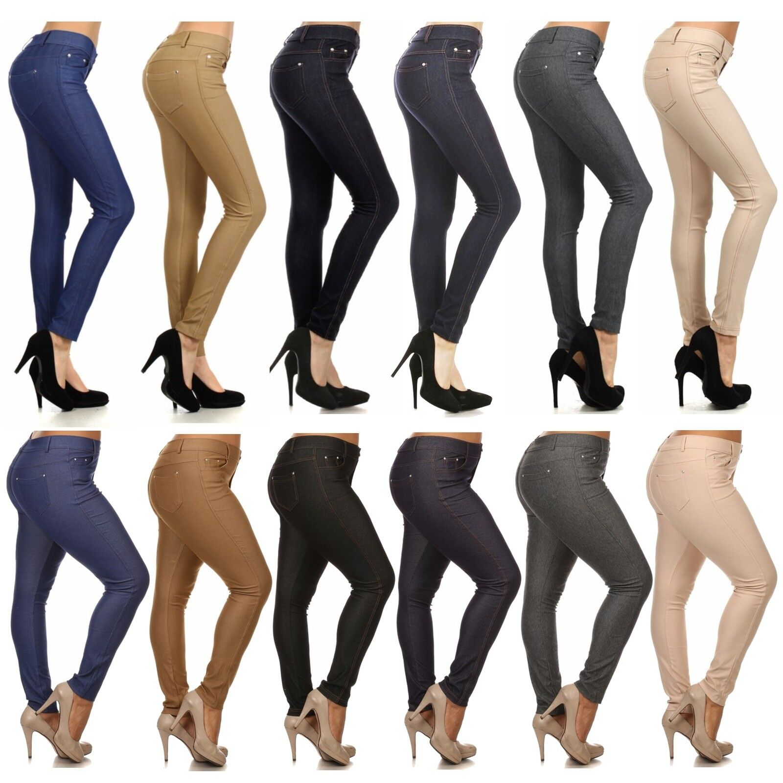 $14.99 - Women Fashion Slim Fit seamless Jeggings colors stretch pants size S to 3XL