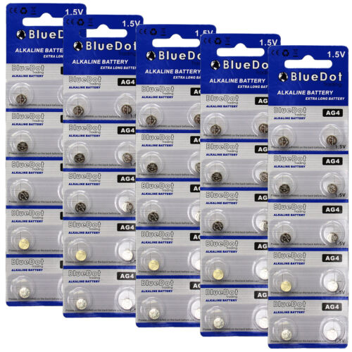 NEW! 377 177 LR66 AG4 SR626 BlueDot Watch battery 50 Pieces FREE USA SHIPPING
